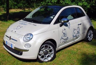 Illustration for article titled Brits Lose Collective Mind: Fiat 500 Goes For Nearly $400,000
