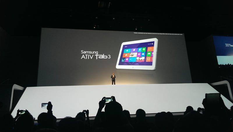 Illustration for article titled Samsung Ativ Tab 3, la tableta ultrafina con Windows 8 hecha realidad