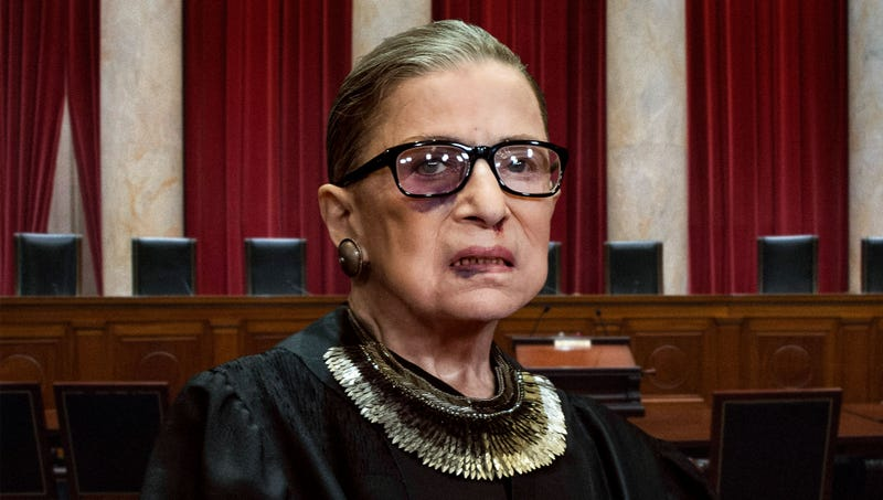 Illustration for article titled Ruth Bader Ginsburg Suspended For Next 10 Rulings Following Supreme Court Bench-Clearing Brawl