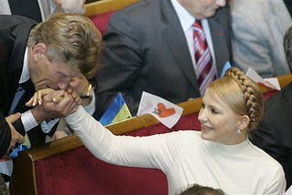 Illustration for article titled Prime Minister In Ukraine Parliament Has Admirers, Cool Braids