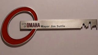 """Illustration for article titled If Omaha Is Giving Jake """"The Juggernaut"""" Ellenberger A Key To The City, Omaha Must Have Too Many Keys"""