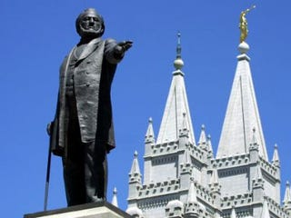 A statue of Brigham Young (George Frey/AFP/Getty Images)