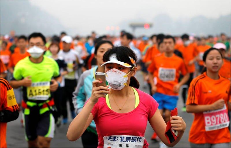 Illustration for article titled El maratón tóxico de Pekín: 16 veces más contaminación de lo saludable