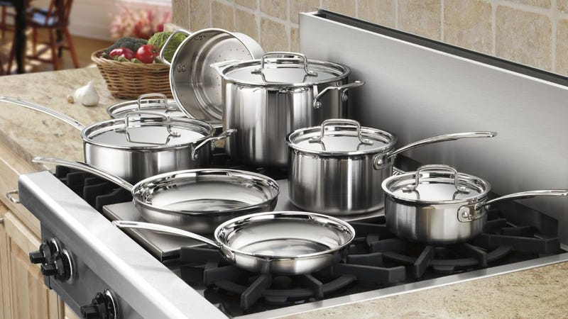 Cuisinart Multiclad Pro Stainless Steel 12-Piece Cookware Set, $199