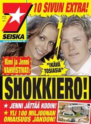 Illustration for article titled Are Kimi Räikkönen And His Wife Separating?