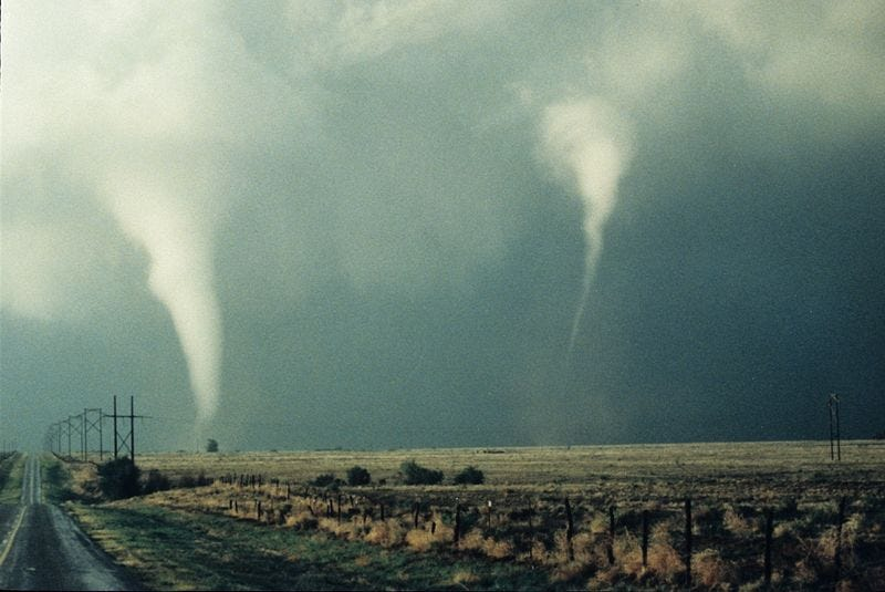 Illustration for article titled Are Tornadoes Starting To Move In Swarms?