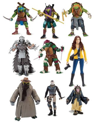 Illustration for article titled The First TMNT Movie Figures Reveal Pretty Much Everybody