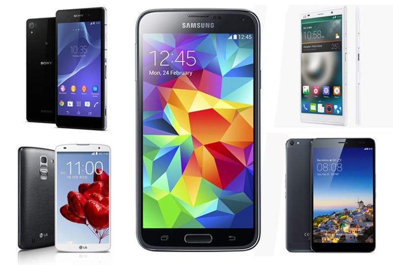 El Samsung Galaxy S5 frente a sus principales rivales