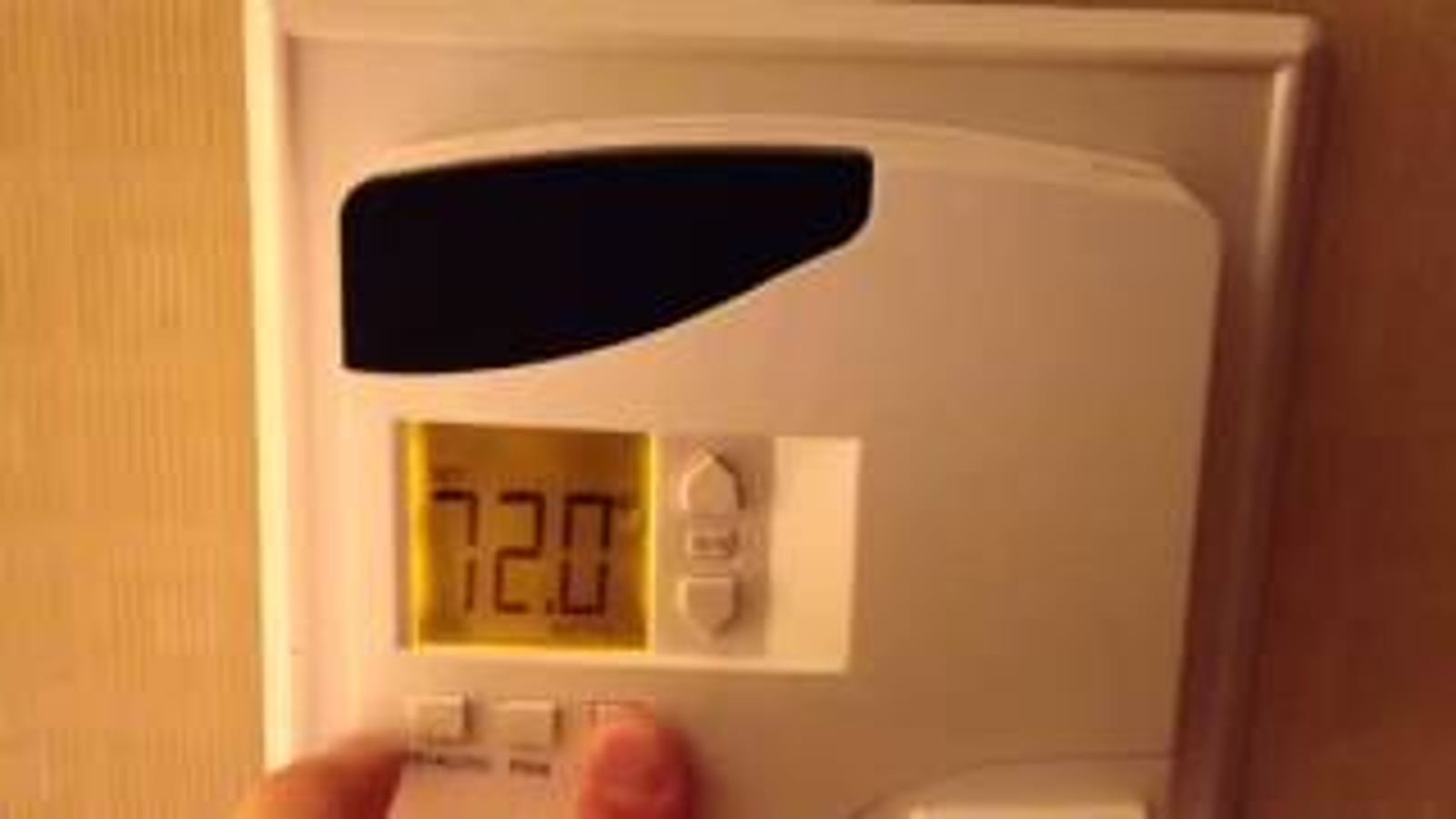 Override Your Hotel Room Thermostat And Set It As Hot Or