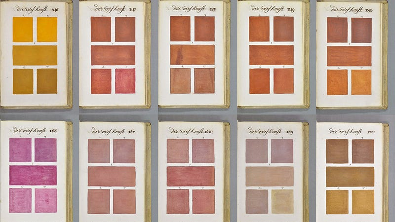Illustration for article titled Who Painted This 300-Year-Old Guidebook to Every Imaginable Color?
