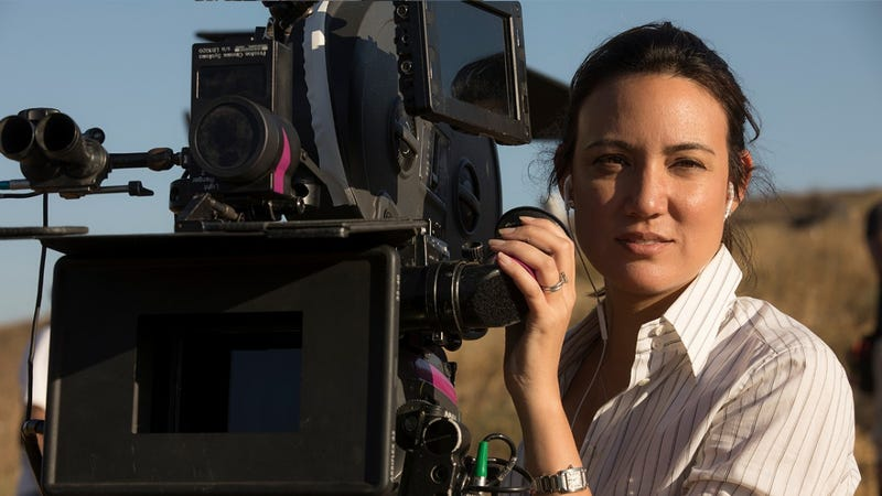 Lisa Joy behind the camera for an episode of Westworld.