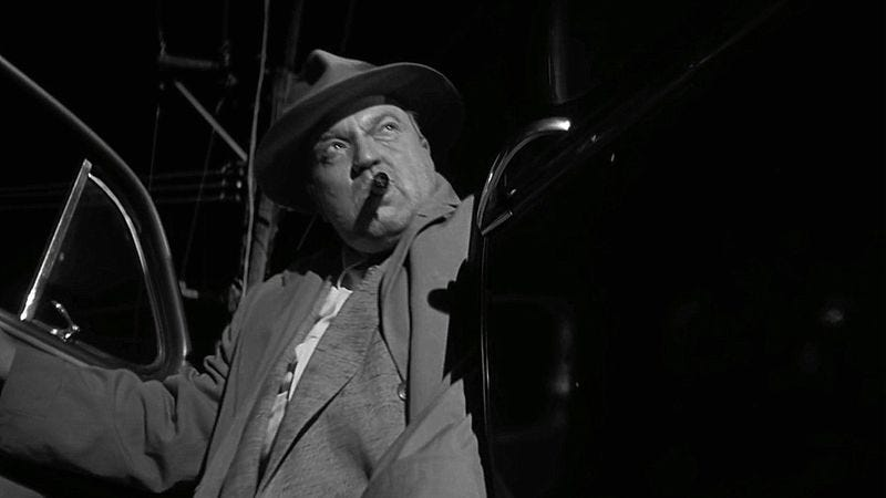 Orson Welles as Hank Quinlan in Touch Of Evil (1958)