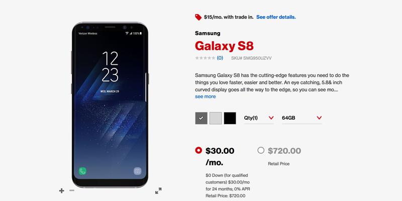Preorder Samsung Galaxy S8