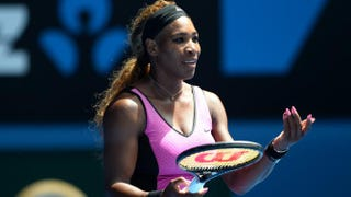 Serena Williams during her women's singles match against Serbia's Ana Ivanovic in the 2014 Australian Open tennis tournament in Melbourne on Jan. 19, 2014WILLIAM WEST/AFP/Getty Images