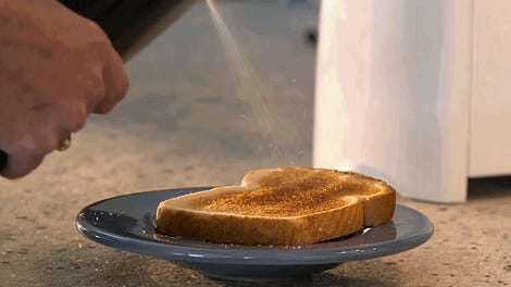 Charming This Kitchen Tool Turns Sticks Of Butter Into Sprayable Deliciousness