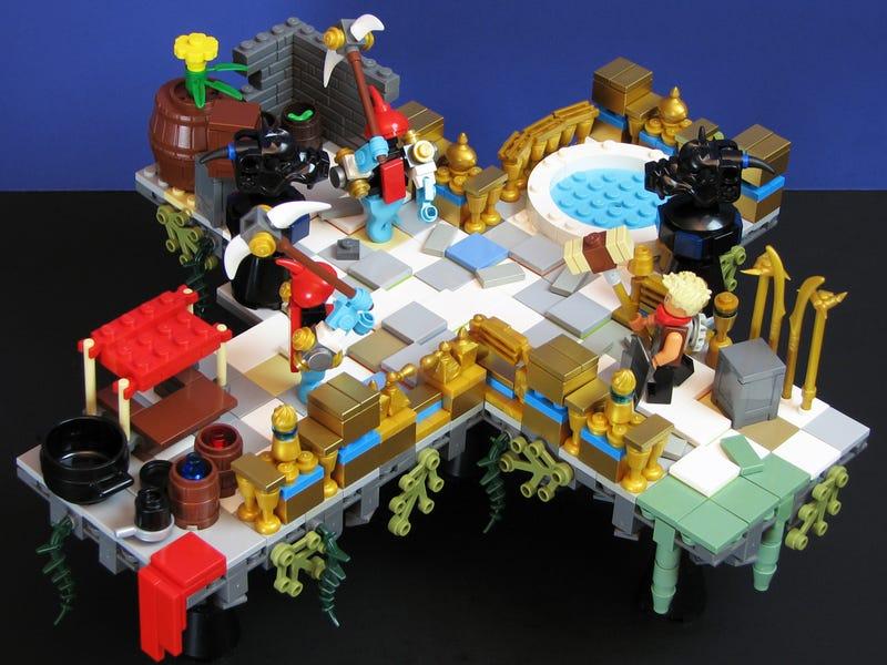 Illustration for article titled Lego Bastion Diorama