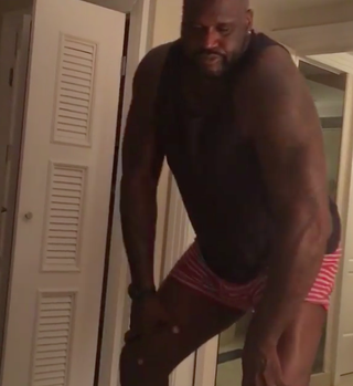 """Shaquille O'Neal paying tribute to Teyana Taylor's moves in """"Fade""""Instagram"""