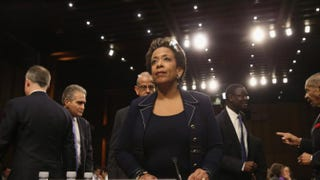 U.S. Attorney for the Eastern District of New York Loretta Lynch arrives for her confirmation hearing before the Senate Judiciary Committee Jan. 28, 2015, on Capitol Hill in Washington, D.C.Mark Wilson/Getty Images