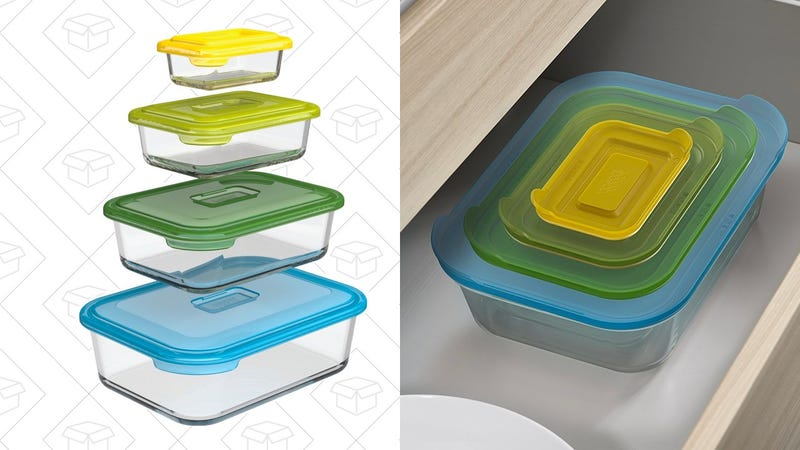 Joseph Joseph 81064 Nest Glass Food Storage Container and Bakeware Set  | $19 | Amazon