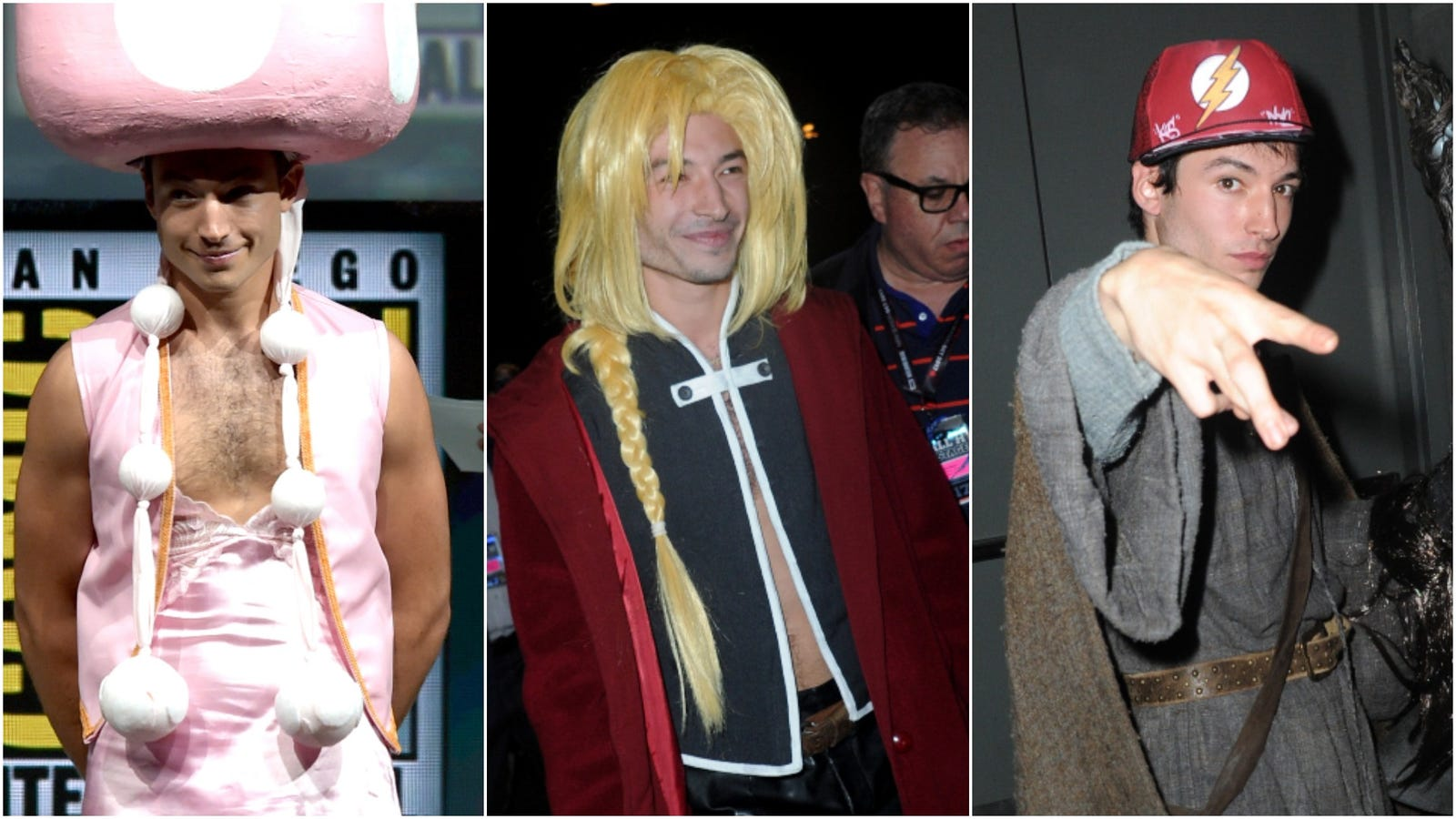 And now, an appreciation of Ezra Miller cosplaying at Comic-Con