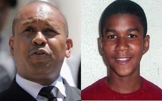 Kevin Powell (Jemal Countess/Getty Images); Trayvon Martin