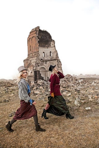 Illustration for article titled Elle Turkey Shoots Fashion Spread In Ruined Armenian City