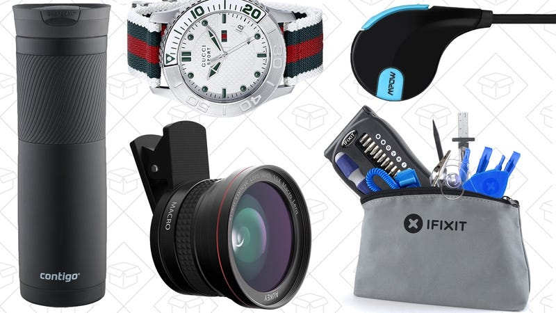 Illustration for article titled Today's Best Deals: Contigo Mugs, Gucci Watches, iFixit Toolkit, and More