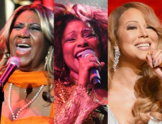 Aretha Franklin in 2012; Chaka Khan in 2012; Mariah Carey in 2014Kevin Winter/Getty Images Entertainment;Allen Berezovsky/Getty Images for i.am.angel Foundation; Dimitrios Kambouris/Getty Images