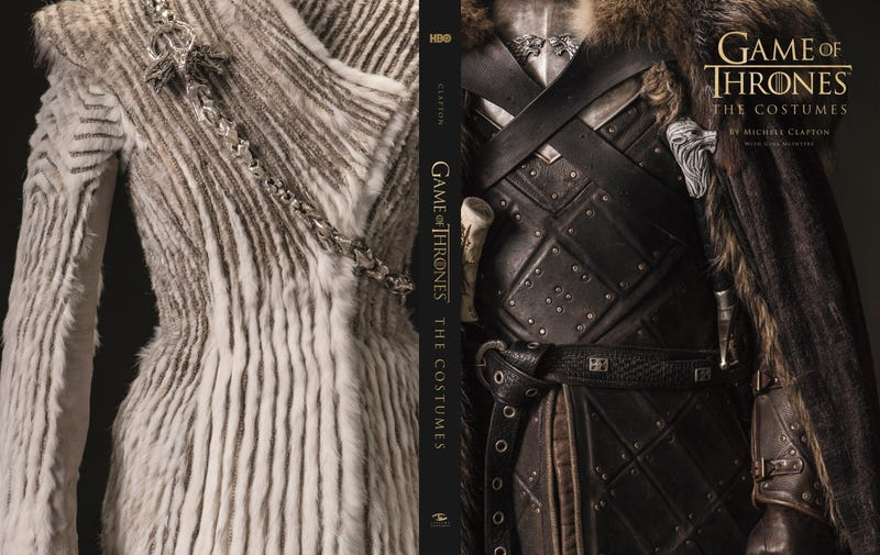 The back and front cover of Game of Thrones: The Costumes.
