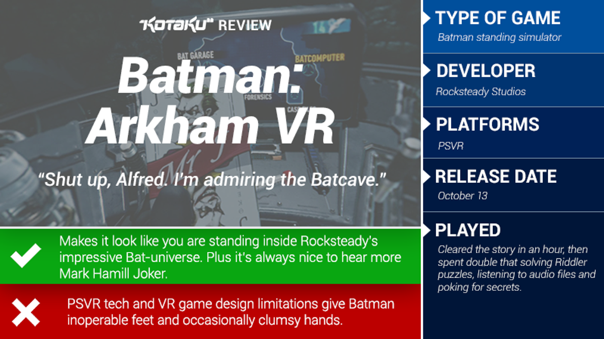 Batman Arkham VR: The Kotaku Review