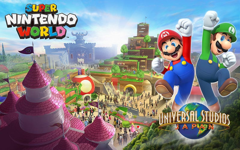 Illustration for article titled First Glimpse At What A Super Mario Theme Park Could Look Like