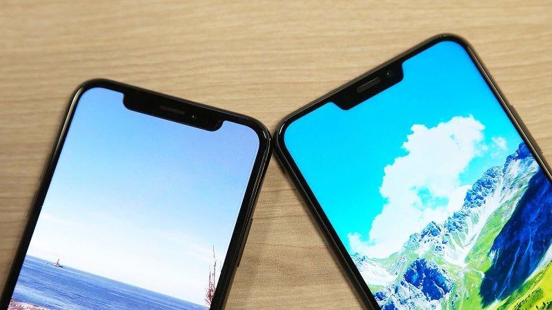 El iPhone X y el Asus Zenfone 5.
