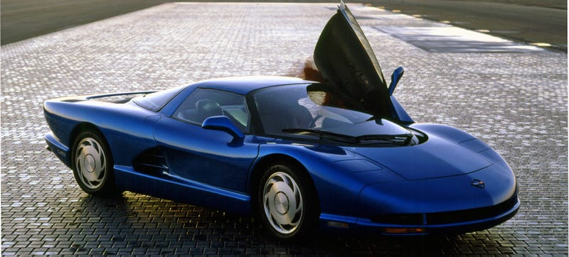 The 1990 CERV-III Concept, which is what I hope this thing will look like, blade wheels and pop-up headlights and all.