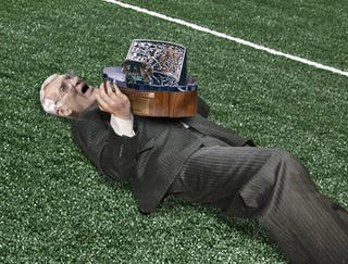 Illustration for article titled Dan Rooney Crushed Beneath Weight Of Lamar Hunt Trophy