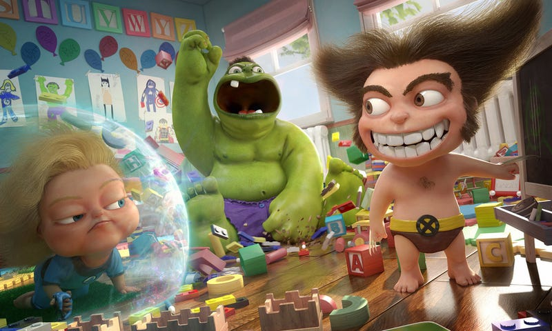 Illustration for article titled What If Pixar Made A Marvel Babies Movie?