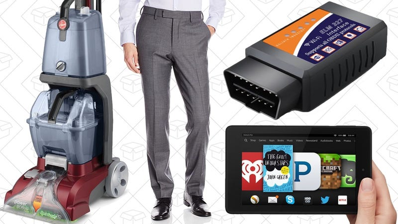 Illustration for article titled Today's Best Deals: Fire HD 6, Pants For Everyone, Hoover Carpet Steamer, and More