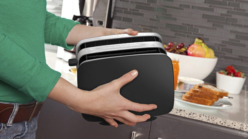 Illustration for article titled A Collapsable Accordion Toaster Would Save Precious Counter Space