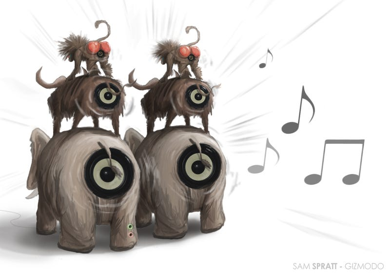 Illustration for article titled A Brief Look at Some Very Wacky Animal and Fruit Speakers