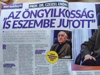 Illustration for article titled Mellbevágóan ízléstelen és félrevezető cím a Hot!-ban Czeizel Endréről