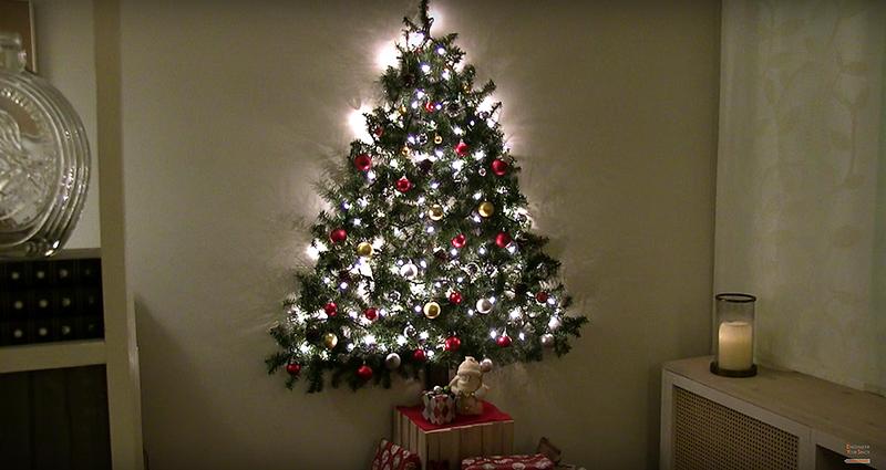 C mo fabricar un rbol de navidad de pared perfecto para - Arbol de navidad hecho de luces ...