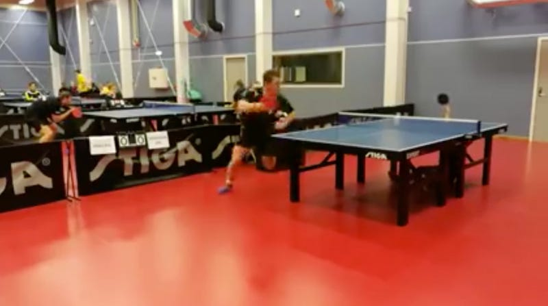 Illustration for article titled Table Tennis Guy Pulls Off The Last-Ditch Block Of A Lifetime
