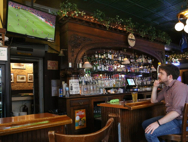 Illustration for article titled Report: It Unclear If Bar Patron Soccer Fan Or Just Waiting For Someone