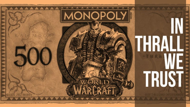 Illustration for article titled World of Warcraft Monopoly Puts a Fresh Face on Fake Currency