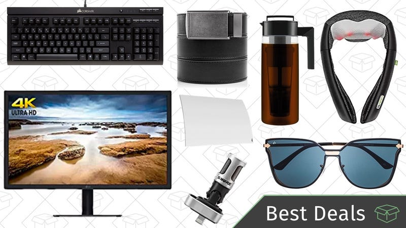 Illustration for article titled Thursday's Best Deals: Ratchet Belts, Electric Massagers, 4K Monitor, and More