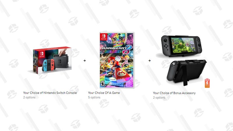 Nintendo Switch Bundle (Console, Game, and Battery Pack) | $330 | Walmart