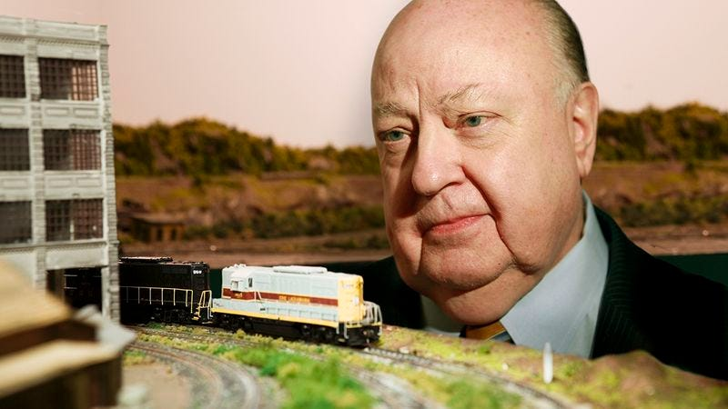 Illustration for article titled Too Little, Too Late: Roger Ailes Has Put Up Signs Denouncing Sexual Harassment In The Town Hall Of His Miniature Train Set