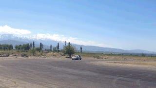 Shredding Tires In Kyrgyzstan