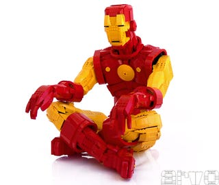 Illustration for article titled Lego Iron Man Must Be Seen to Be Believed