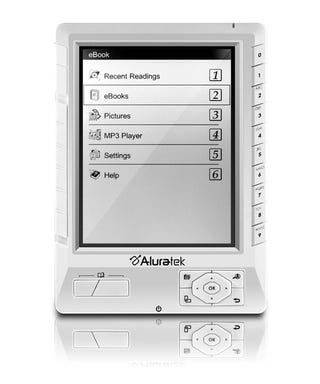 Illustration for article titled Aluratek's $179 LCD-Based Libre eBook Reader Goes Cheap