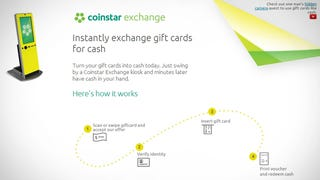 Illustration for article titled Coinstar Exchange Kiosks Take Your Unused Gift Cards for Cash [Updated]